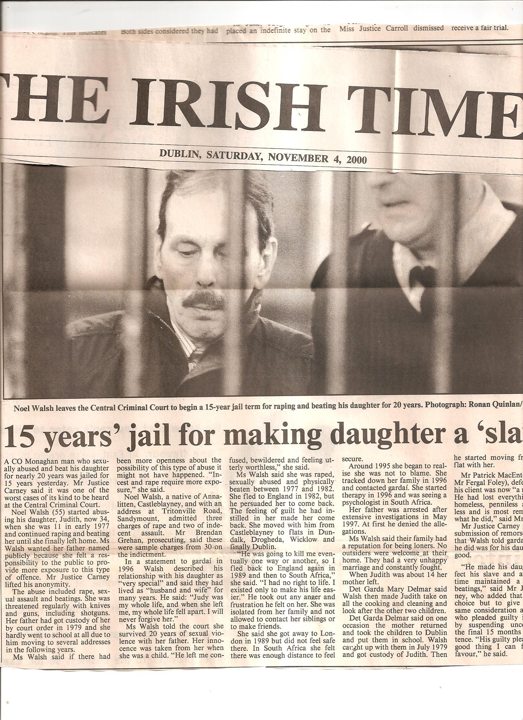 Irish Times Nov00