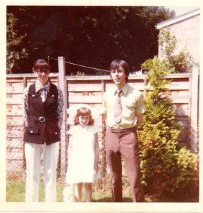 Me with my Mom and Dad on my Communion Day